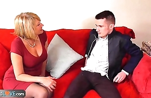 AgedLove Nice blonde granny is fucked away from sweltering man