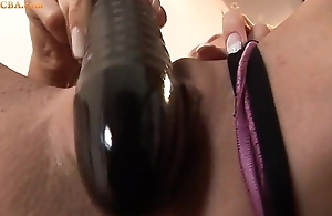 Ass masturbate wide dildo