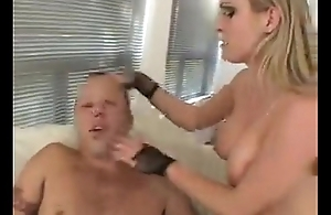 blonde peggs guy and makes him spasm cum from her pussy