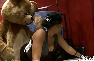 Sparking bear at office party