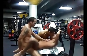 Hot trinity in the gym