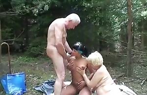 XXX babe joins aged couple