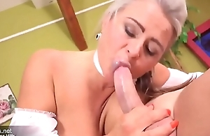 Hot Mature Milf is cheating with young follower groupie