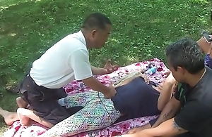 Chinese Massage in parking-lot