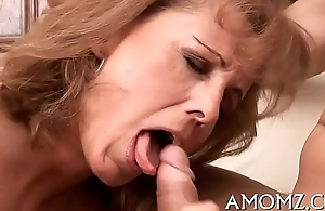 Hot mom groans with abyssal fucking