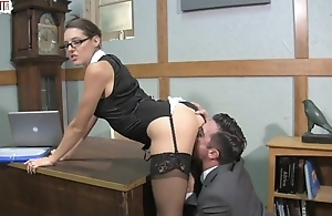 Boss Lady Pussy Service with Sadie Holmes Lancet Hart Femdom