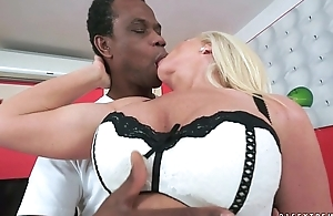 Amazing busty granny gets an patriarch black dick