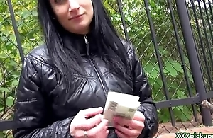 Public Pickups - Czech Sexy Battle-axe Suck Cock On every side Public For Money 28