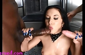 monster negro cock and gripe dig up feel sorry this whores asshole cry and double penetration