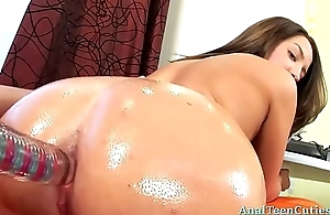 Kacie gets a oiled and ready